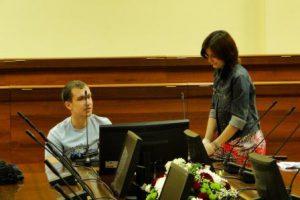 Andrej und Lena bei der Generalprobe