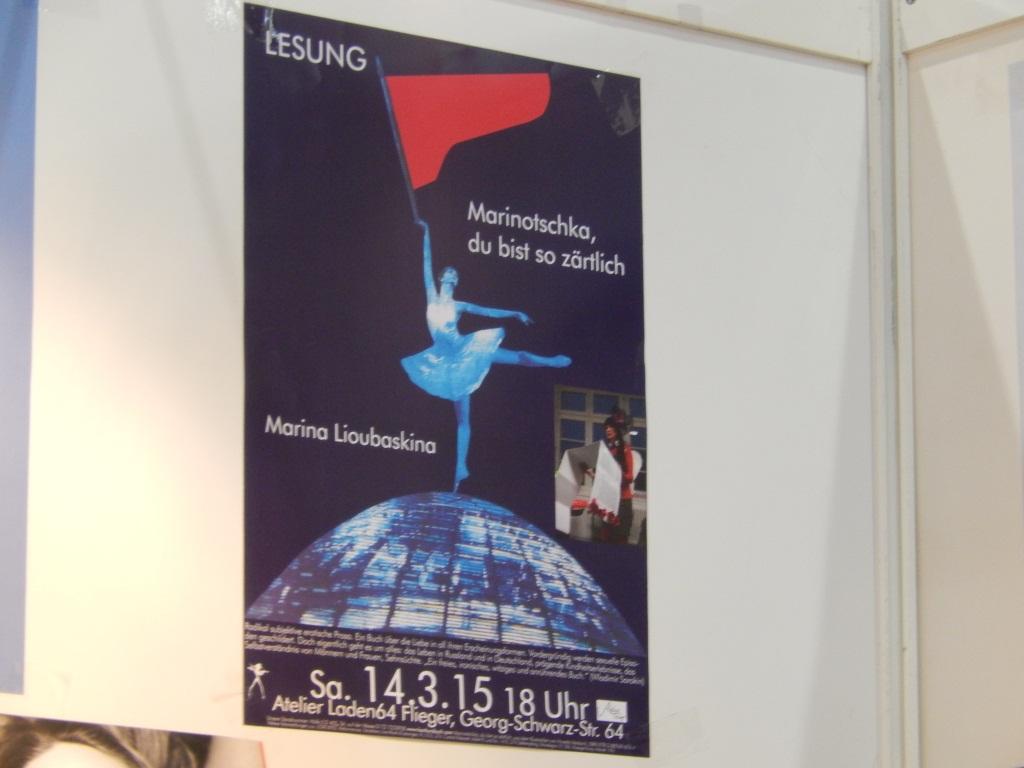 Lesungen mit Marina Lioubaskina auf der Leipziger Buchmesse, 13.-15.03.2015