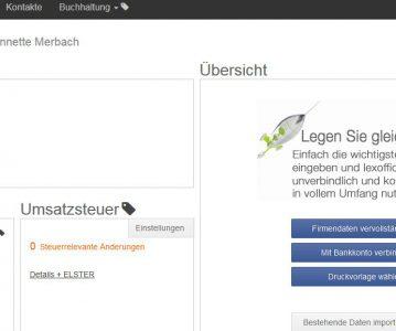 Buchhaltung  in der Cloud: Testbericht lexoffice